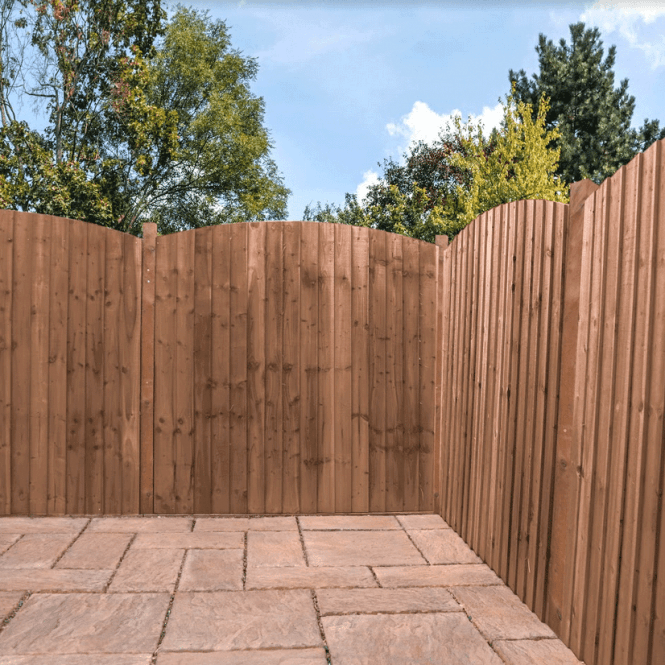 Click to view product details and reviews for Mercia Feather Edge Fence Curved Top Pressure Treated.