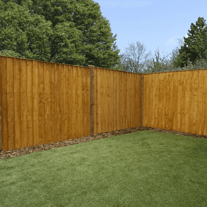 Mercia Feather Edge Fence Flat Top Dip Treated