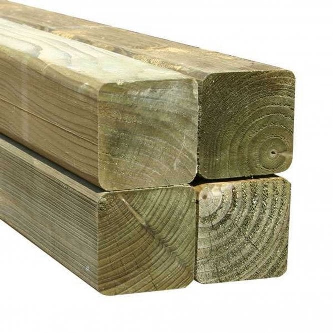 Mercia Green Rounded Fence Post 75mm