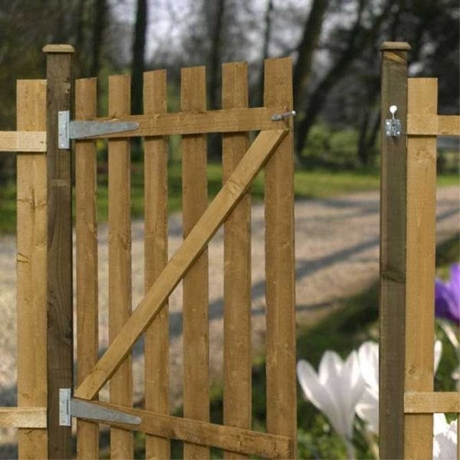 Click to view product details and reviews for Mercia Palisade Gate Flat Top Dip Treated.