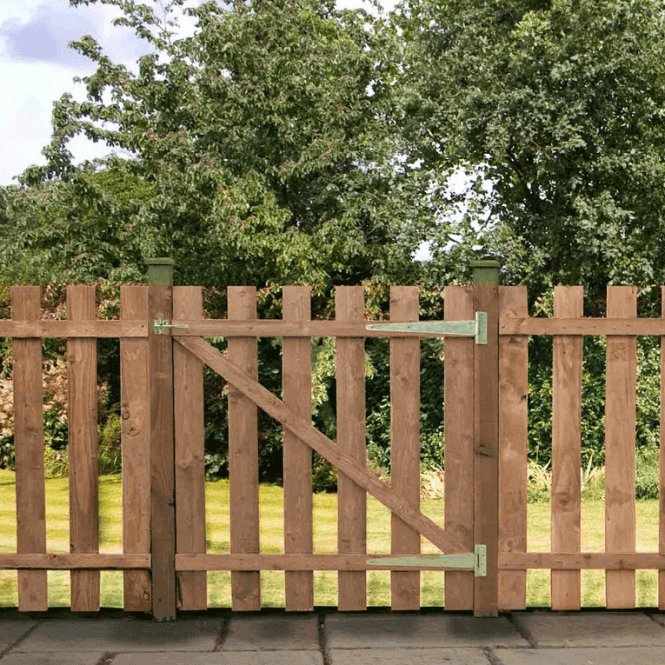 Click to view product details and reviews for Mercia Palisade Gate Flat Top Pressure Treated.