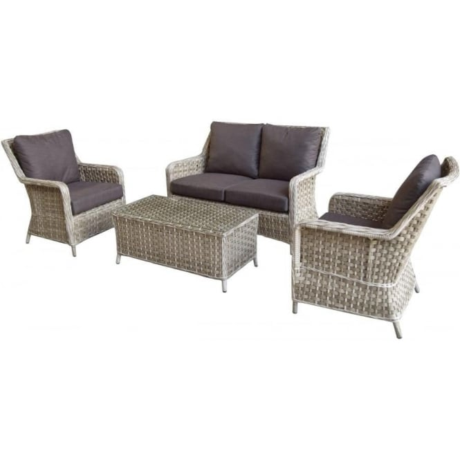 Mia 2 Seater Rattan Sofa Set With Coffee Table In Synthetic Rattan