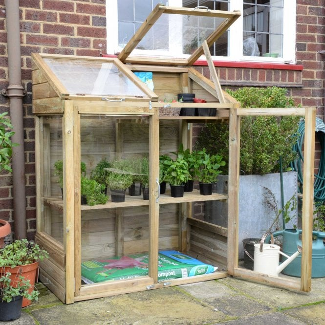 Click to view product details and reviews for Mini Greenhouse With 2 Internal Shelves.