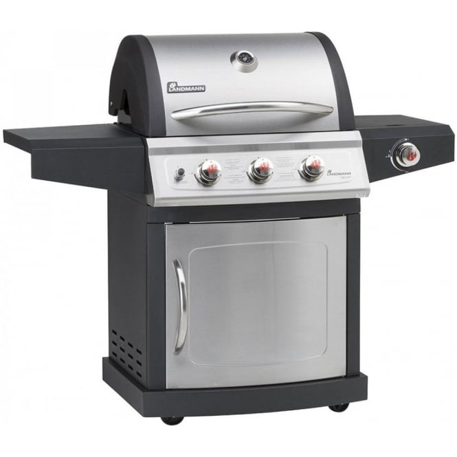 Click to view product details and reviews for Miton 3 Burner Gas Barbeque With Side Burner.
