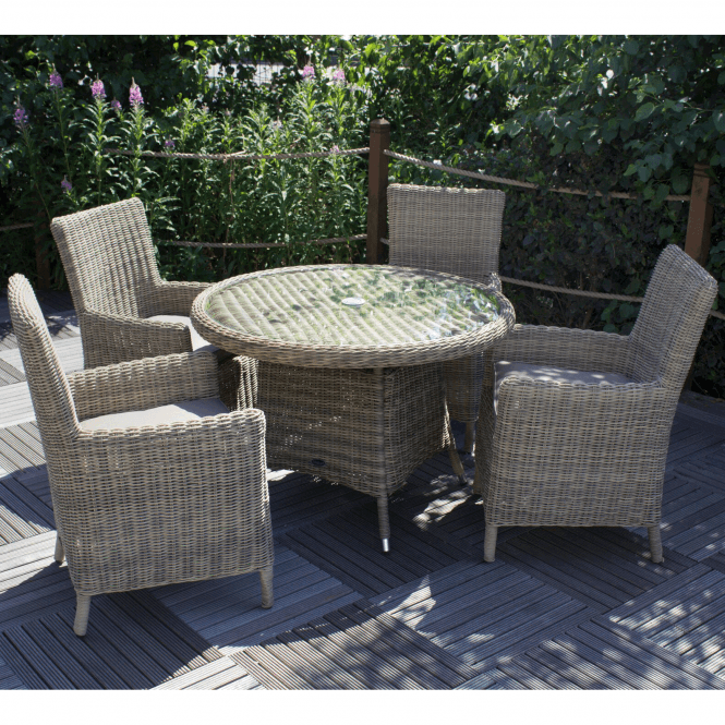 Click to view product details and reviews for Modena 4 Seater Round Carver Dining Set.