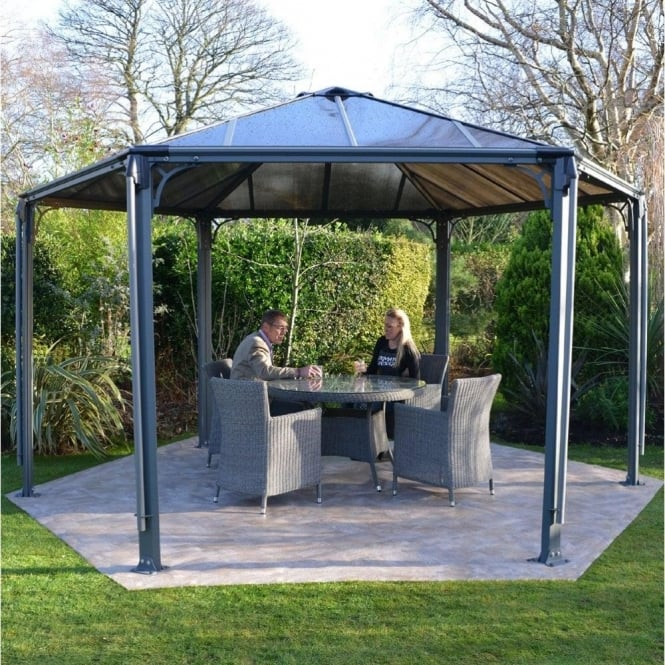 Click to view product details and reviews for Monaco 36m X 36m Hexagonal Gazebo.