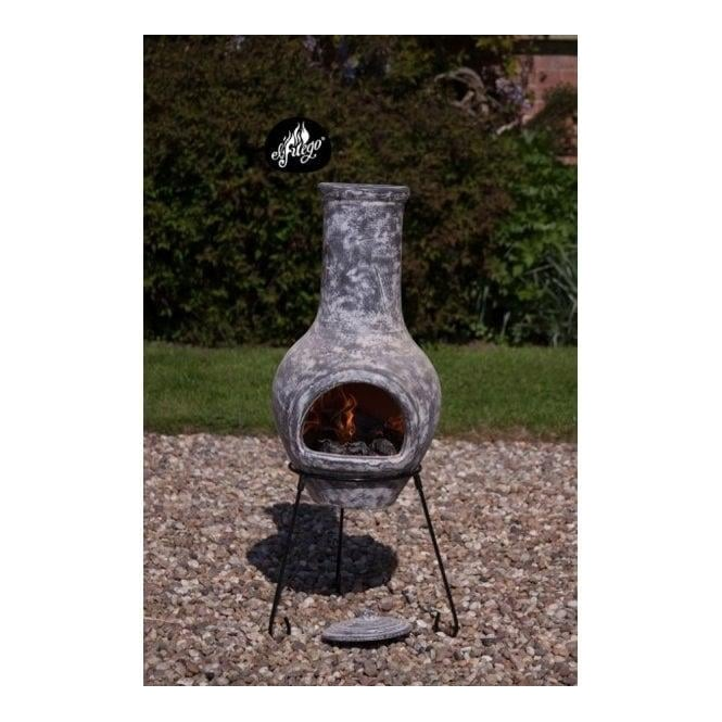 Click to view product details and reviews for Morena Medium Clay Chimenea Stoney Grey.