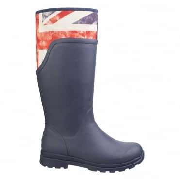 Cambridge Tall Boots in Navy/ Vintage Union Jack