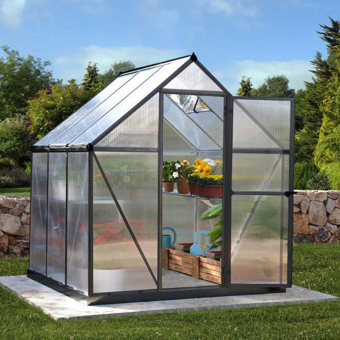 Click to view product details and reviews for Mythos Greenhouse 6ft X 6ft Grey.