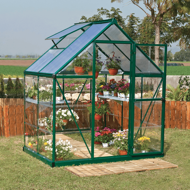 Click to view product details and reviews for Nature Hybrid 6 X 4 Greenhouse Green.