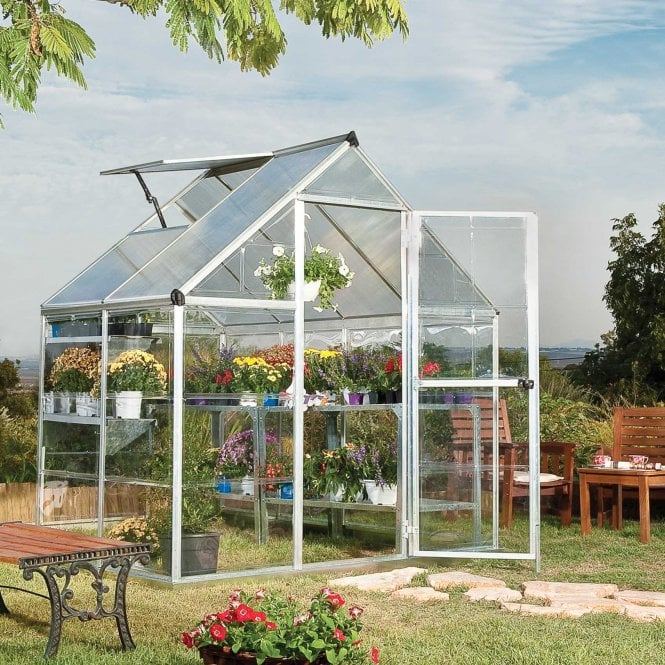 Click to view product details and reviews for Nature Hybrid 6 X 4 Greenhouse Silver.