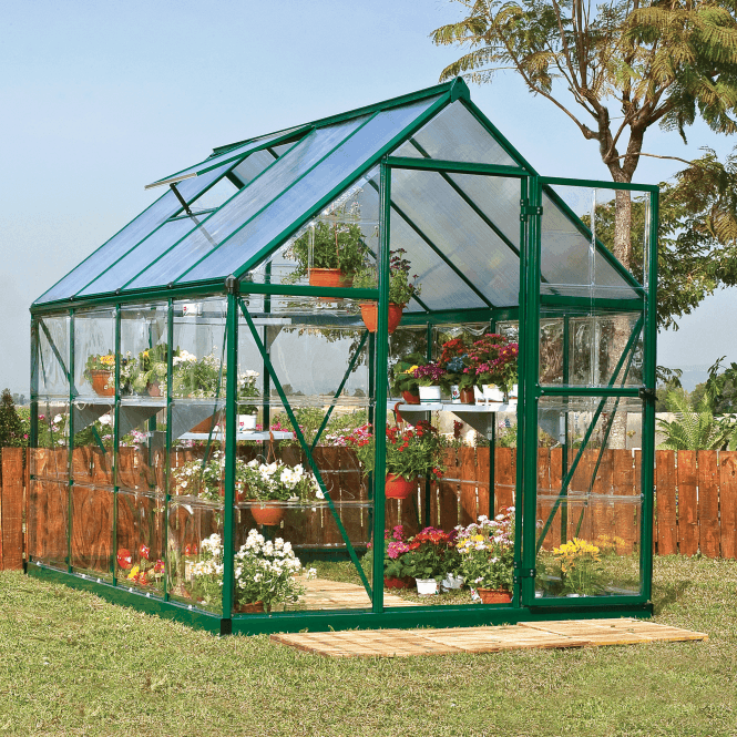 Click to view product details and reviews for Nature Hybrid 6 X 8 Greenhouse Green.