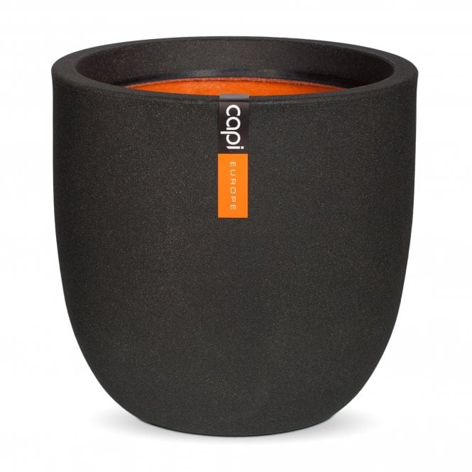 Click to view product details and reviews for Nature Smooth Ball Planter Black.