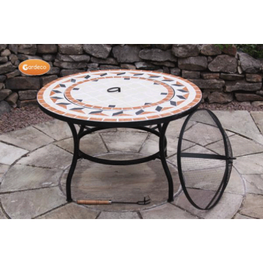 New Tile Mosaic Fire Bowl Table
