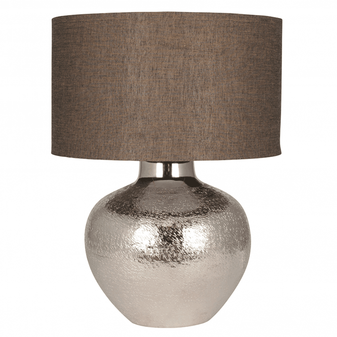 Click to view product details and reviews for Nickel Etch Pot Table Lamp And Cotton Shade.