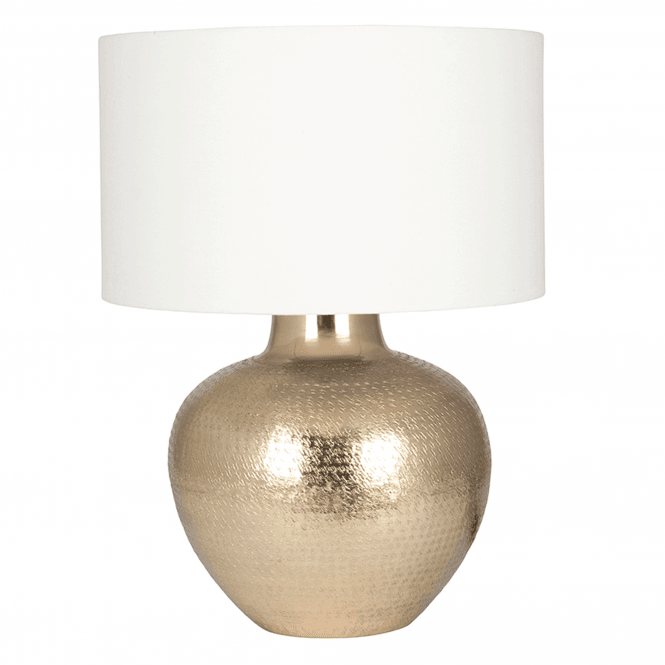 Click to view product details and reviews for Gold Etch Pot Table Lamp And Cotton Shade.