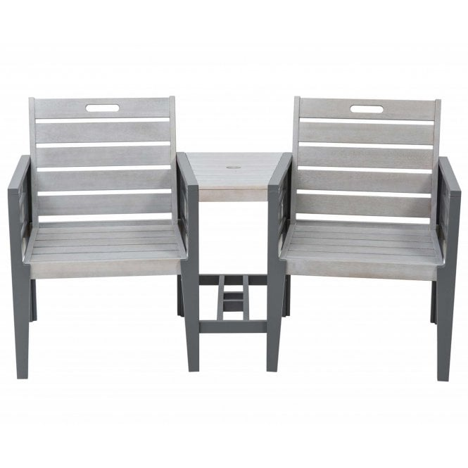 Click to view product details and reviews for Norfolk Leisure Florenity Grigio Tete A Tete Bench Set.