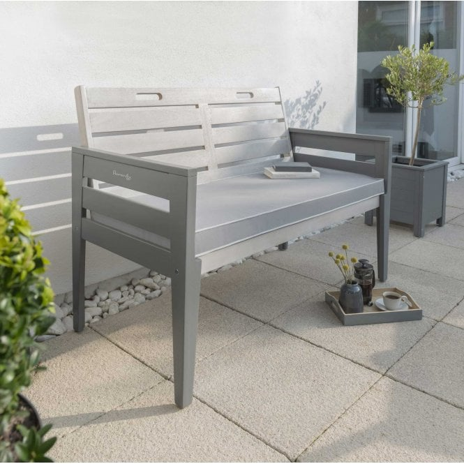 Click to view product details and reviews for Norfolk Leisure Florenity Grigio Two Seat Bench With Seat Pad.