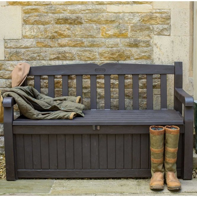 Norfolk Leisure Garden Must Haves Iceni Wood Look Storage Bench