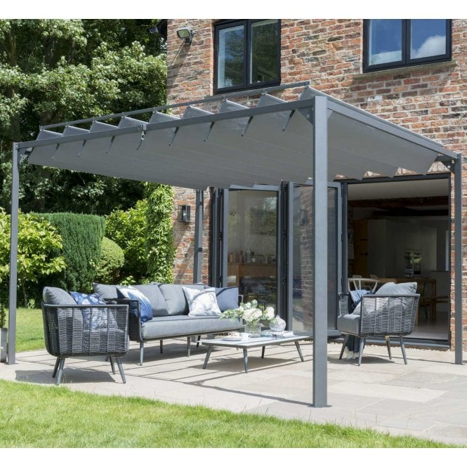 Click to view product details and reviews for Norfolk Leisure Garden Must Haves Pandora Leaf Pergola.