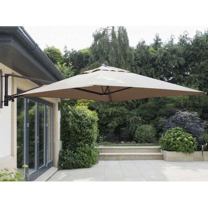 Click to view product details and reviews for Norfolk Leisure Garden Must Haves Wall Mounted Cantilever Parasol 2 X 2m.