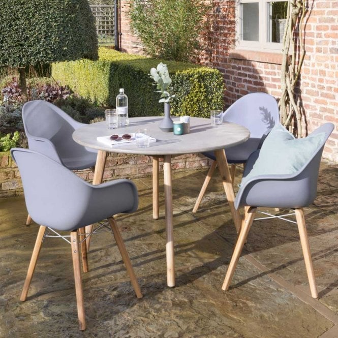 Click to view product details and reviews for Norfolk Leisure Handpicked Zari 4 Seat Round Set Anthracite.
