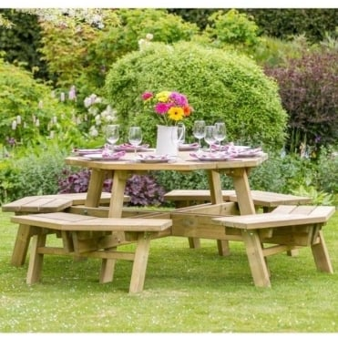 Norwood Alex Octagon Picnic Table