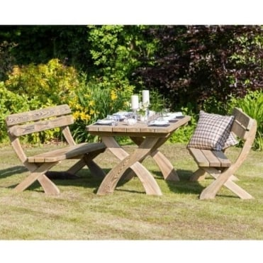 Norwood Harriet Table and Bench Set