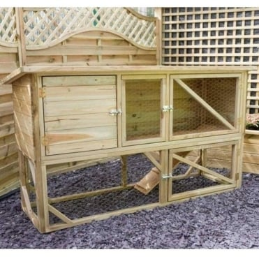 Norwood Rabbit and Guinea Pig Hutch and Run 1.8m