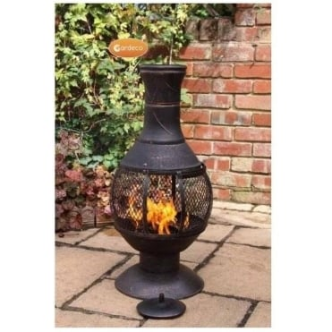 Opera Cast Iron Chimenea with Mesh Central section