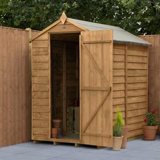 Click to view product details and reviews for Overlap Dip Treated 6 X 4 Apex Shed No Windows.