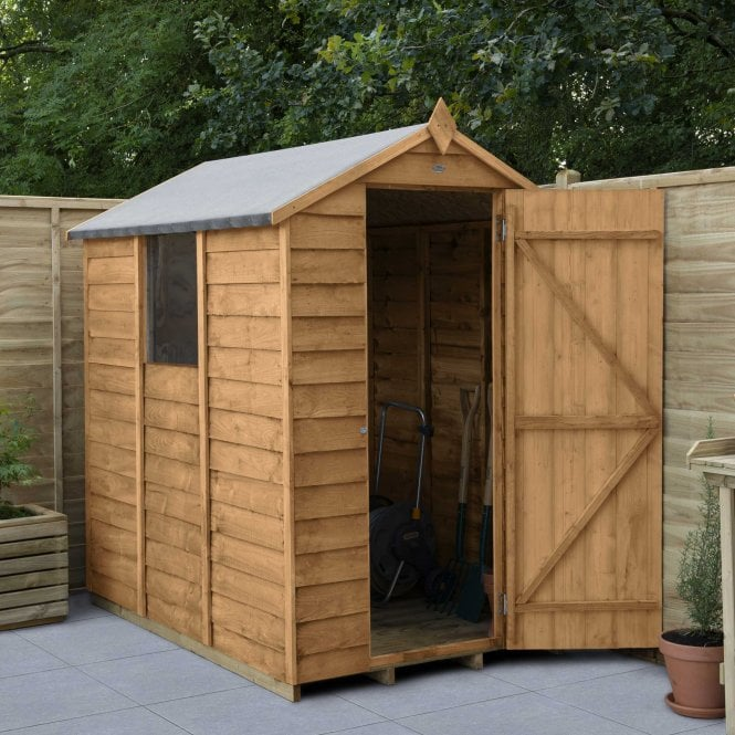 Click to view product details and reviews for Overlap Dip Treated 6 X 4 Apex Shed.