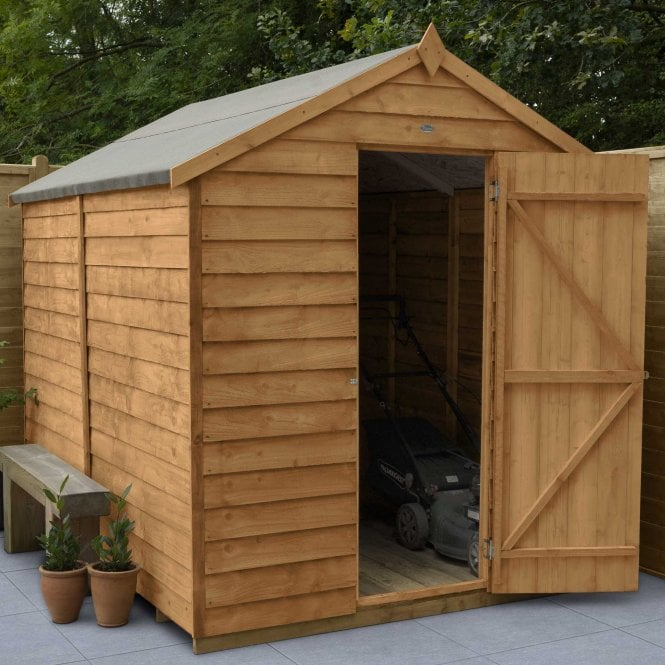 Click to view product details and reviews for Overlap Dip Treated 8 X 6 Apex Shed No Window.