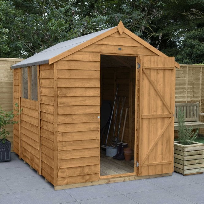 Click to view product details and reviews for Overlap Dip Treated 8 X 6 Apex Shed.