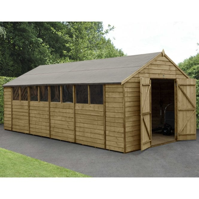 Click to view product details and reviews for Overlap Pressure Treated 10 X 20 Apex Shed Double Door.