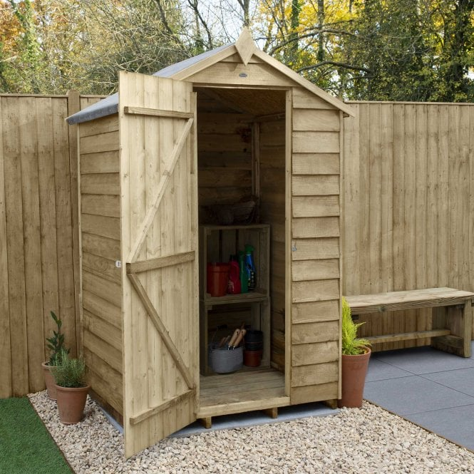 Click to view product details and reviews for Overlap Pressure Treated 4 X 3 Apex Shed No Windows.
