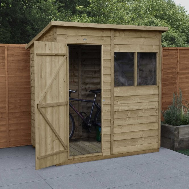 Click to view product details and reviews for Overlap Pressure Treated 6 X 4 Pent Shed.
