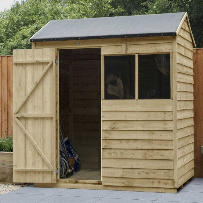 Click to view product details and reviews for Overlap Pressure Treated 6 X 4 Reverse Apex Shed.