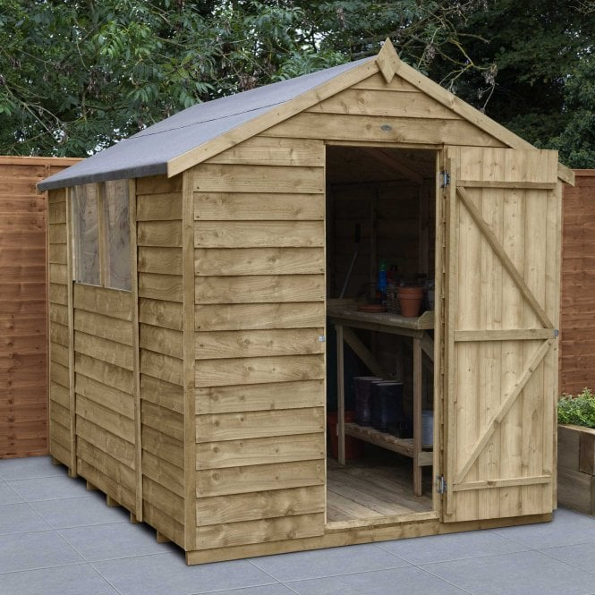 Overlap Pressure Treated 8 X 6 Apex Shed