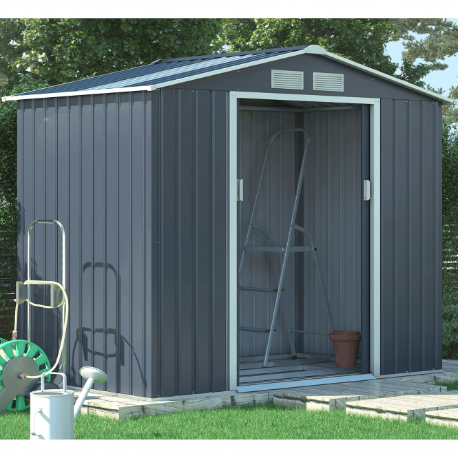 Click to view product details and reviews for Oxford 2 Grey Metal Shed 7 X 4.