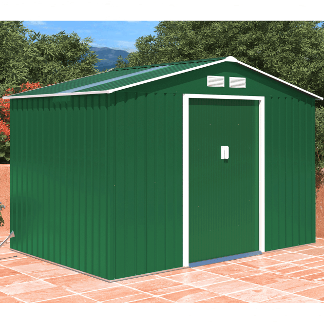 Click to view product details and reviews for Oxford 3 Green Metal Shed 9 X 6.