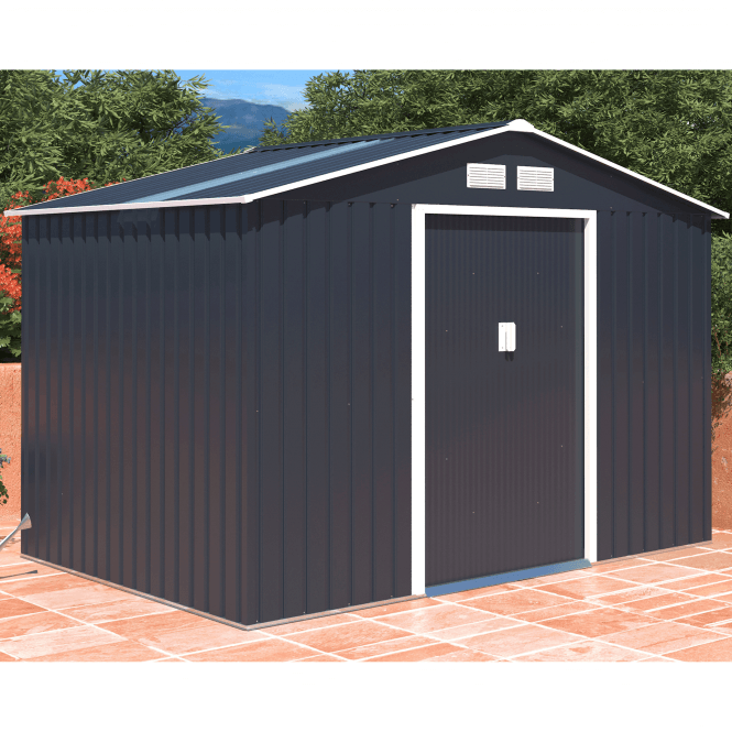 Click to view product details and reviews for Oxford 3 Grey Metal Shed 9 X 6.