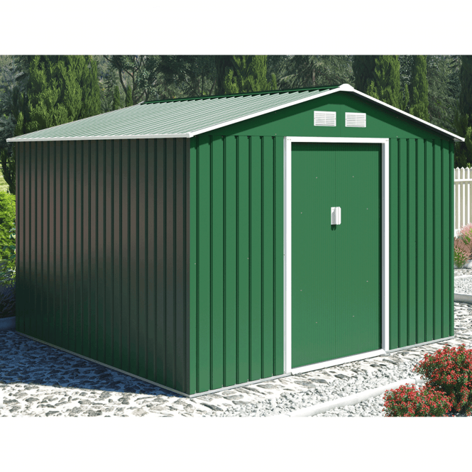 Click to view product details and reviews for Oxford 4 Green Metal Shed 9 X 8.