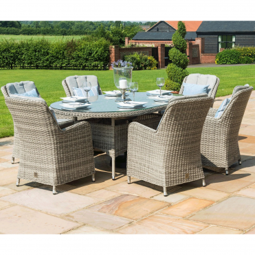 Oxford 6 Seat Oval Dining Set with Venice Chairs