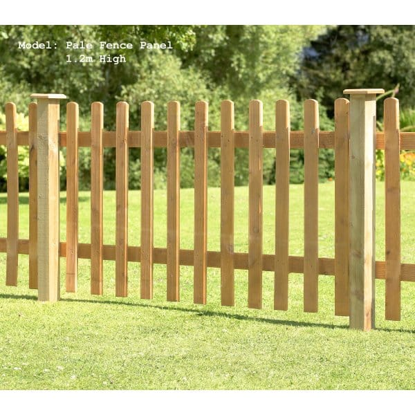 Forest Garden Pale Fence Panel 1 2m High