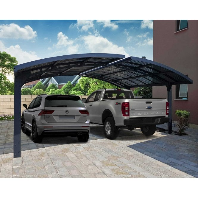 Click to view product details and reviews for Palram Arizona Double Carport Wave Wings And Arch.