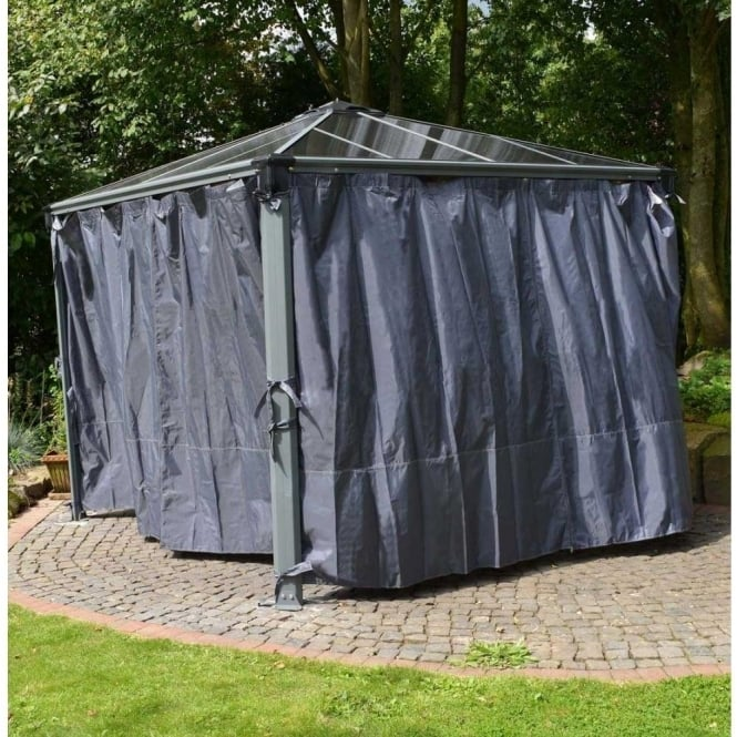Click to view product details and reviews for Palram Garden Gazebo Palermo 4300 Curtain Set Grey 4 Piece.