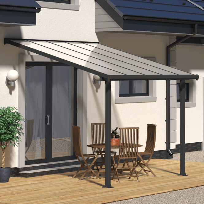 Click to view product details and reviews for Palram Olympia 3m Patio Cover Grey.