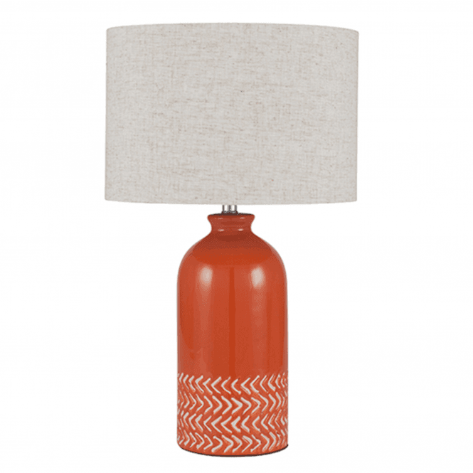 Paprika Ceramic Complete Table Lamp Discontinued