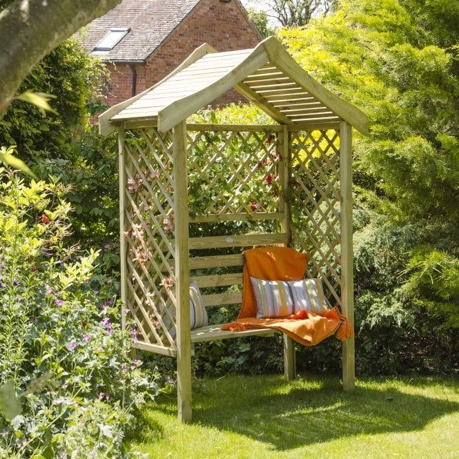 Click to view product details and reviews for Parisienne Arbour With Attractive Roof Trim.